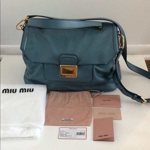 e5f17cfdb68 Miu bags handbag with all authencity cards poshmark jpg 580x580 Shoulder bag  miu handbags 2018
